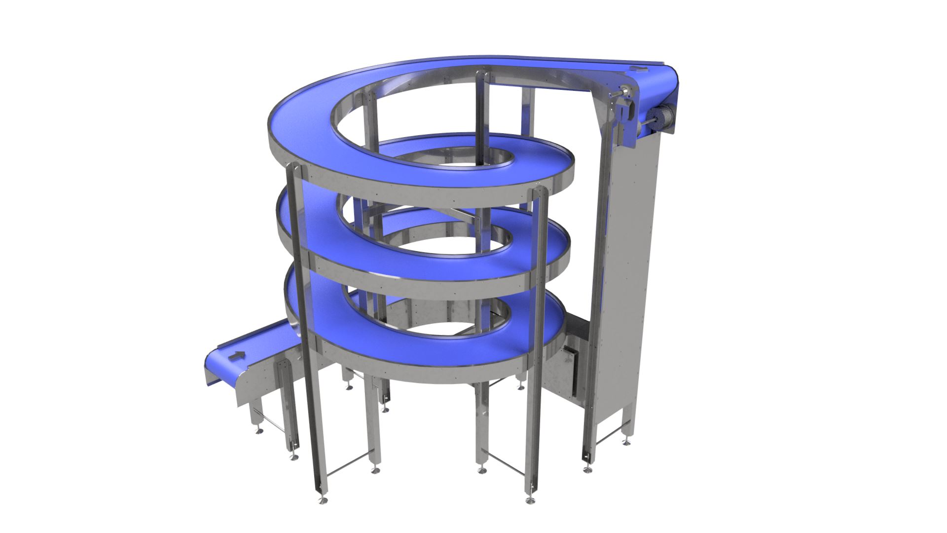 3D model of Spiral Elevators for use in Food Applications