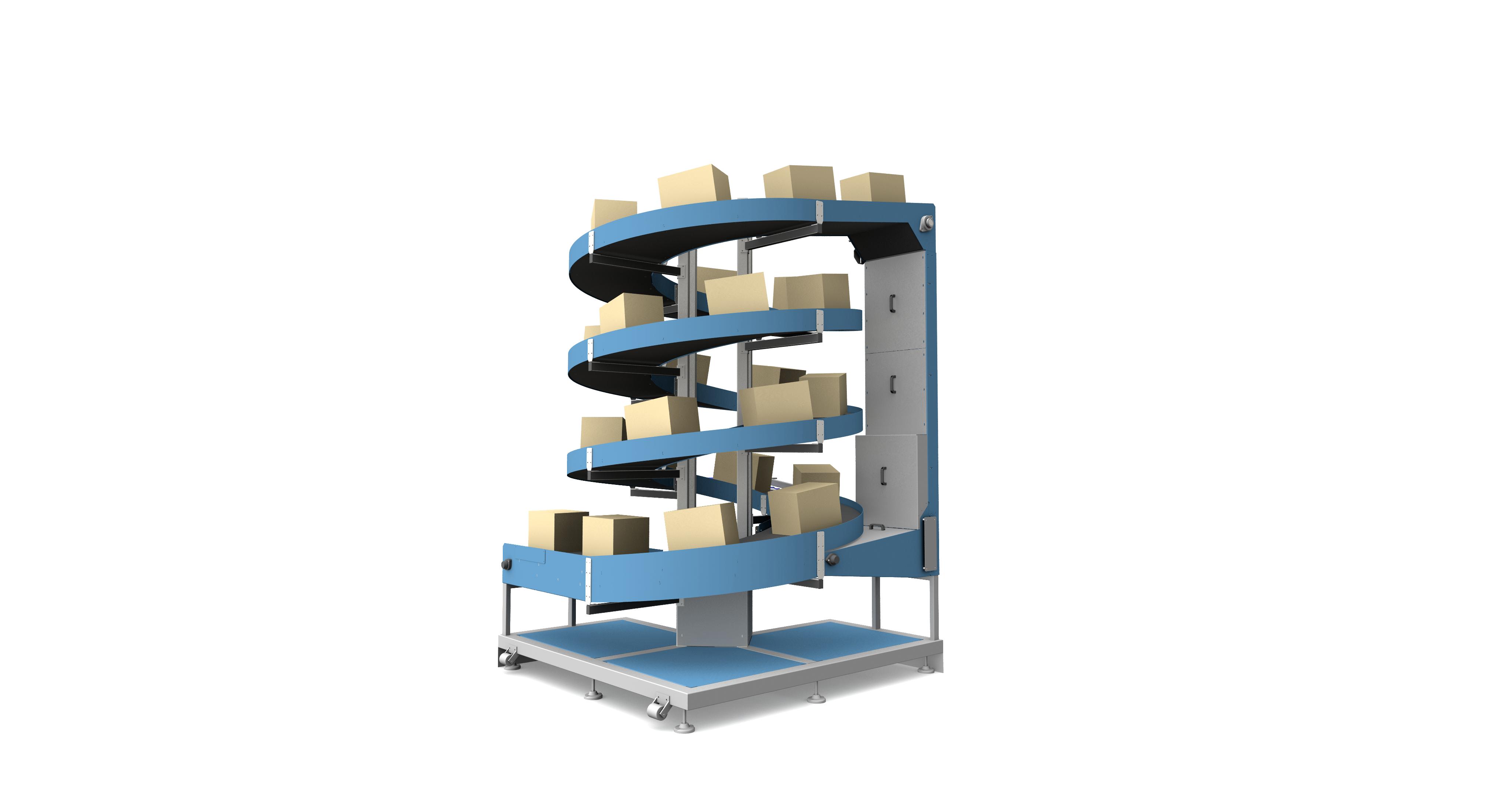 3D model of Spiral Elevators for Warehouse & Logistics Applications
