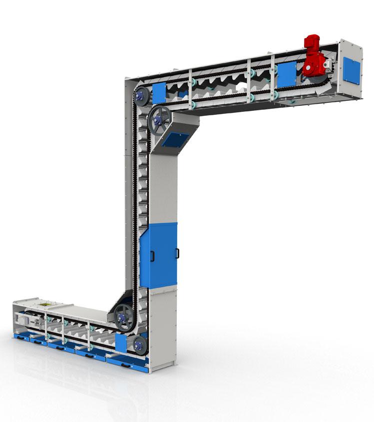 3D model of Nerak Continuous Bucket Elevator