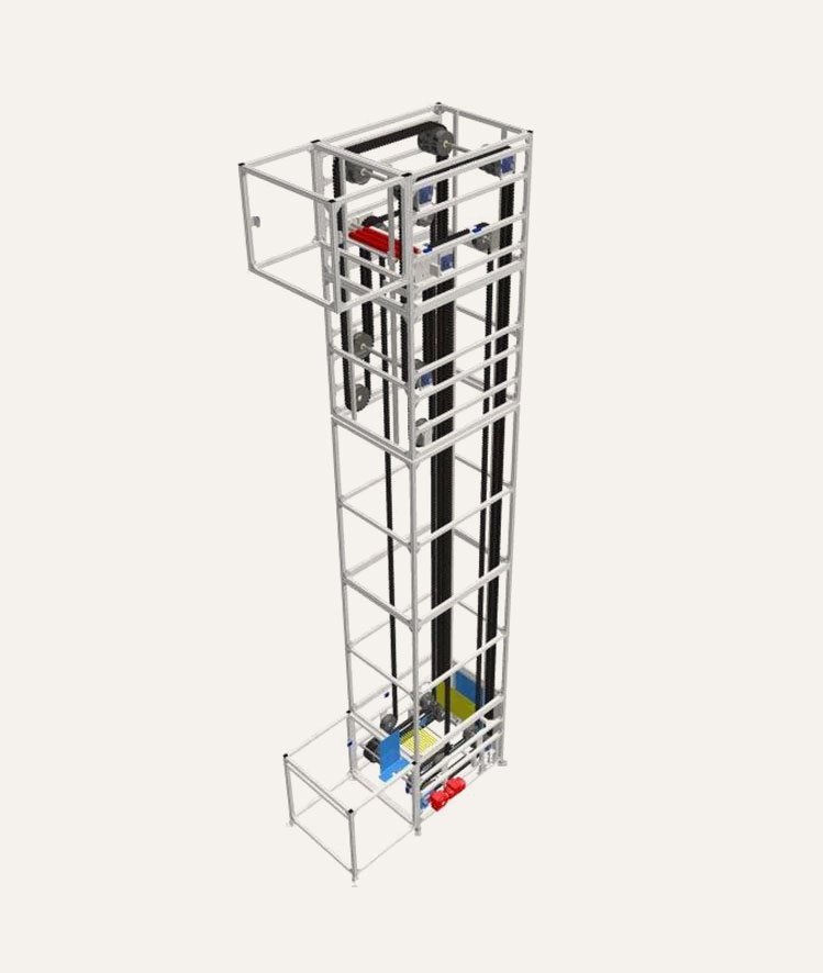 3D model of C-shape Platform Elevator