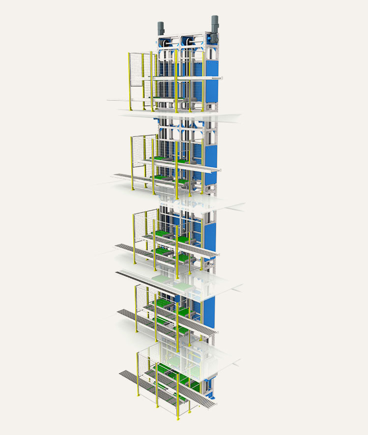 3D model of Multi-Platform Reciprocating Lift