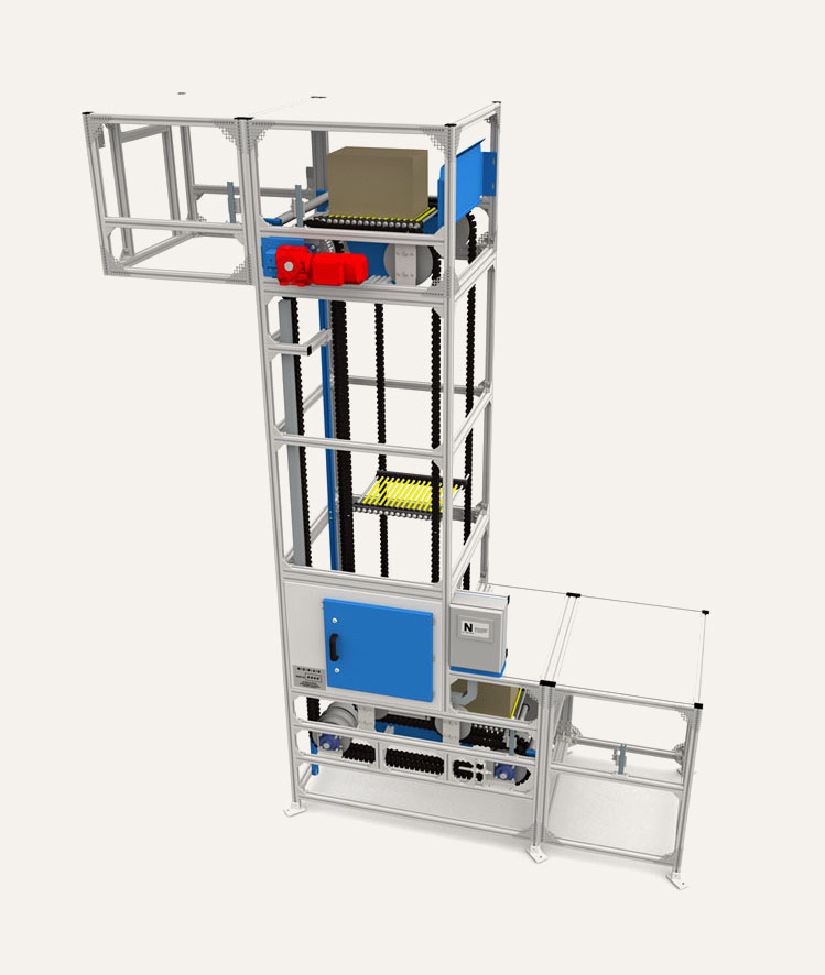 3D model of S-shape Platform Elevator (Box Lifter)